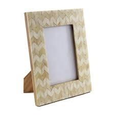 Handmade Bone Inlay Wooden Modern Pattern Photo Frame Furniture