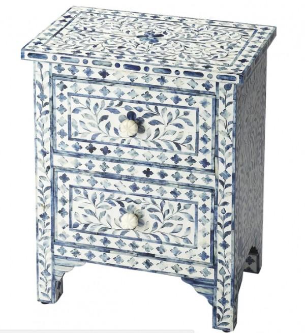 Handmade Mother of Pearl Wooden Bedside Furniture