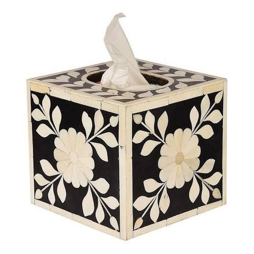 Handmade Bone Inlay Tissue Box