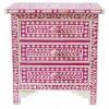 Handmade Bone Inlay Wooden Modern Floral Pattern 3 Drawer Furniture